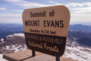 Mount Evans Summit on the Scenic Byway