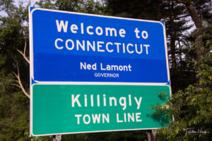 Connecticut State Road Sign