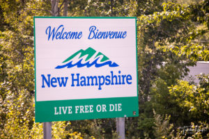 New Hampshire State Road Sign