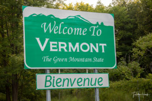 Vermont State Road Sign