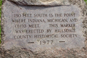 Indiana-Ohio-Michigan Tristate Marker