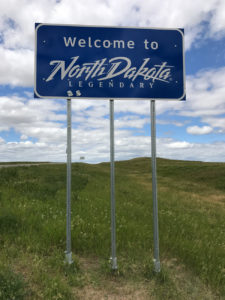 North Dakota State Road Sign