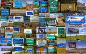 All 50 States Welcome Road Signs - Tabitha Hawk 2019