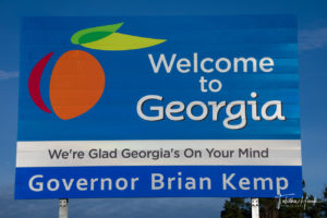 Georgia State Road Sign